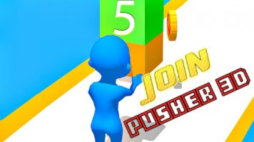 Join Pusher 3D: Присоединяйтесь к Pusher 3D
