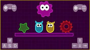 Neon Slimes io: Неоновые слизи