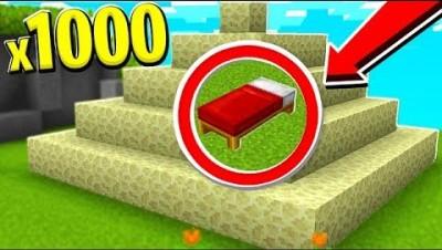 1,000 ENDSTONE BED DEFENSE CHALLENGE! - Minecraft Bedwars