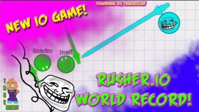A NEW AGARIO | Rusher.io: [WORLD RECORD] 2K SCORE! + Funny Moments & Glitches & Fails #1