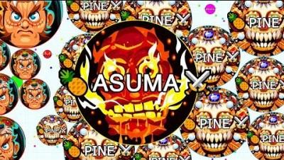 Agar.io - INSANE Popsplit Takeover! Uncut Gameplay ft. Pine (Agario)