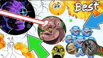AGARIO MASTER OF ALL TRICKS!! 99,99% ULTRA INVINCIBLE TRICK // BEST MOMENTS COMPILATION (Agar.io)