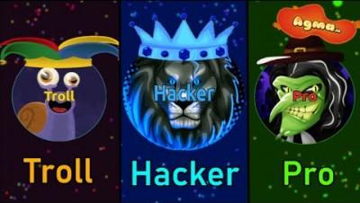AGMA.IO TROLL vs HACKER vs PRO | Funny edition