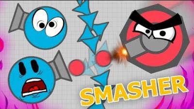 Auto Smasher CRUSHES Auto Trapper?! (Diep.io Gameplay)