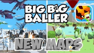 BIG BIG BALLER NEW SNOW WORLD AND ANIMAL JUNGLE MAP