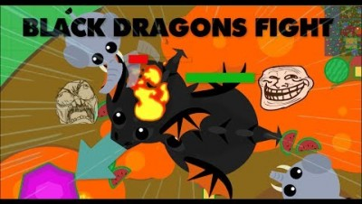 BLACK DRAGONS BATTLE // Bests moments on Mope.io // 4K