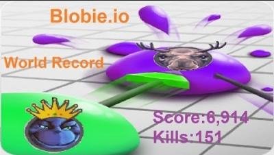 Blobie.io World Record Score:6,914 Kills:151 (PC Version)