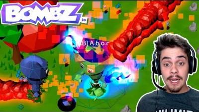 Bombz.io - VIREI O CHEFÃO E EXPLODI TODO MUNDO (NOVO RECORDE) ‹ AbooT ›