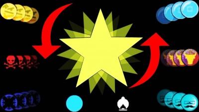 Bonk.io - The Unpredictable Shooting Star (Bonk.io New Maps)