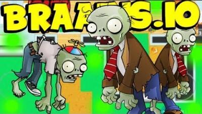 BRAAINS.IO - 1 Human vs 100 Zombies (MAX LVL 999+)