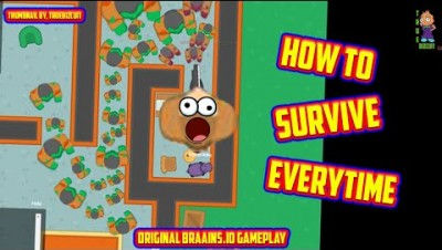 BRAAINS.IO | How to Survive Everytime [9k Score] Best Safe Spots | Original Braains.io Gameplay
