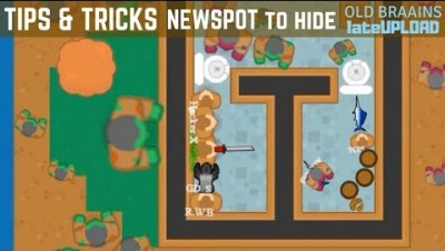 Braains.io - New Spot!  better to hide (tips & tricks) - RajNoobTV gameplay