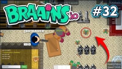Braains.io - UPDATE - VIREI UM ZUMBI GIGANTE - Gameplay #32