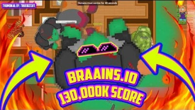 BRAAINS.IO [WORLD'S BIGGEST ZOMBIE TROLL] 113,000K SCORE | WORLD RECORD GAMEPLAY + 100% MAP CONTROL