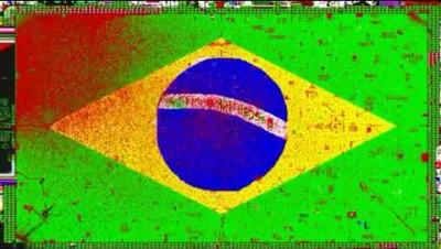 Brasil sendo atacado e destruído - PixelCanvas.io