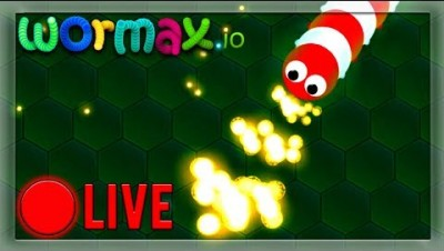 COOL NEW SNAKE GAME! ✯ WORMAX.IO LIVE STREAM