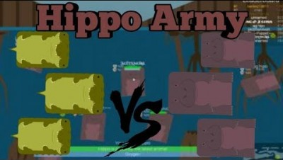 Deeeep.io Hippo Amy VS Crocodiles | Hippos Taking Over The Swamp