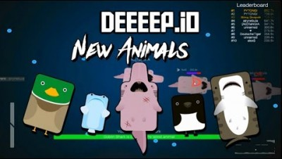 Deeeep.io New Update All Animals | Goblin Shark Gameplay