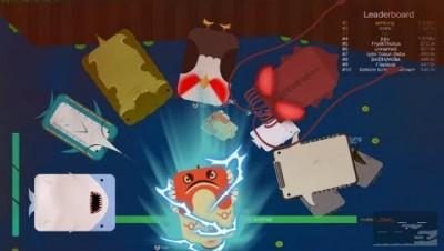 Deeeep.io Stone Fish Trolling And Gameplay   Stone Fish VS All Animals
