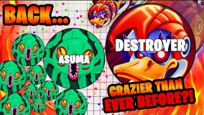 Destroying THE DESTROYER?! Agar.io Duo Gameplay