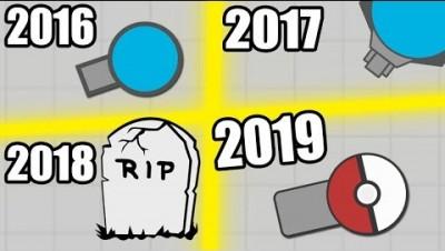 DIEP.IO 2016 vs 2017 vs 2018 vs 2019 !!!