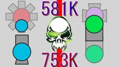 Diep.io - Hybrid & Annihilator Kills (Hybrid & Annihilator Highlights, 581K & 753K)