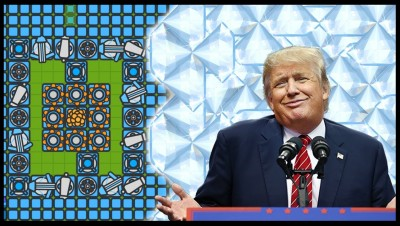 DONALD TRUMP BUILDS WALL OUT OF DIAMONDS! Best Base Design!? Full Diamond Tier Base - ZOMBS.io