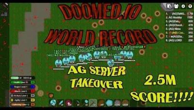 Doomed.io AG TaNGrA Highscore 2MLN Max Skills Lvl 130+ Massing Turrets