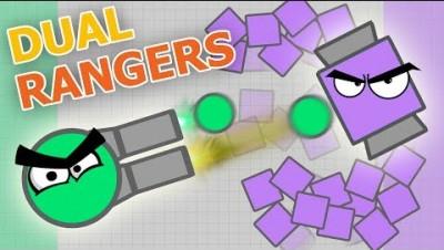 DUAL RANGERS IN DIEP.IO IS SUPERSTRONG?! (Diep.io Ranger Gameplay)