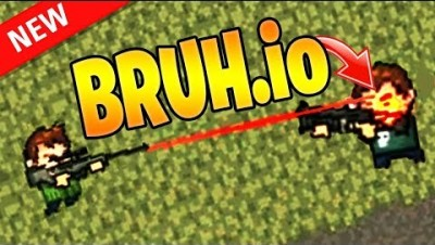 EPIC LASER SHOT in Bruh.io *New .io Game*