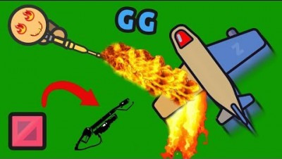 EPIC NEW FLAMETHROWER!! BURNING EVERYTHING & CACTUS BOMB on Zombsroyale New Update Gameplay!