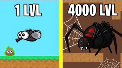 Эволюция Паука! FlyOrDie.io Новая io Игра
