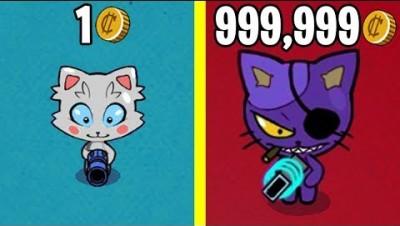 Эволюция Злых Котиков! Anark.io Новая io Игра