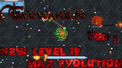 Evowars.io Max Evolution - LvL 19 Hydra Gameplay