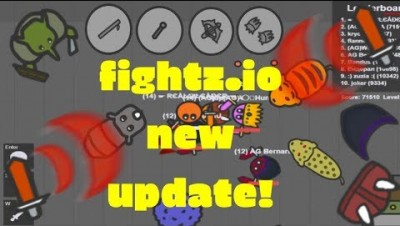 Fightz.io All Weapons All Levels | Biomes Getting To Level 14 Easy