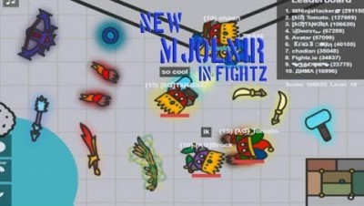 Fightz.io All Weapons Max LvL 15 Gameplay | Fightz.io New Mjornir Weapon