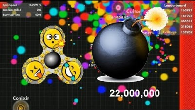 Fisp.io 22,600,000 WORLD RECORD Bomberman Fidget Spinner
