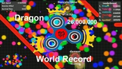 Fisp.io 26,000,000 WORLD RECORD (Blue Fidget Spinner)