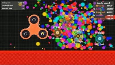 Fisp.io High Score 18,200,000 (Fidget Spinner Orange)