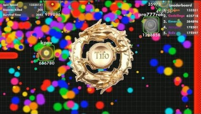 Fisp.io High Score 22,700,000 (.io Fidget Spinner)