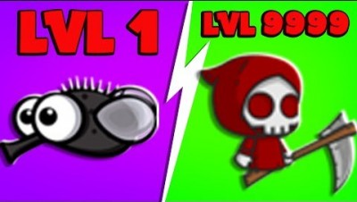 FlyOrDie.io - 4-Player The RED Grim Reaper is OP (New MAX Level) | JeromeASF