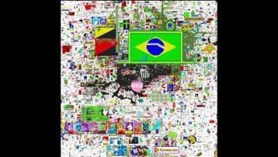 França dominando a bandeira do Brasil - PixelCanvas.io