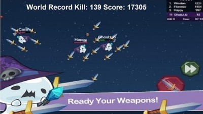 Ghostz.io World Record Kill: 139 Score: 17305 (How to get high score)