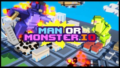 GIANT MONSTER & ROBOT DESTROYS ENTIRE CITY! - ManOrMonster.io [ManOrMonster.io Gameplay]