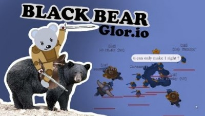 Glor.io Black Bear Hack Or New Update ? Saddled Bear Gameplay | Portals | Dark Guard