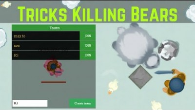 GLOR.IO ► Tricks Killing Bears / New! Create team and Improve Map | RajNoobTV  - glor.io game