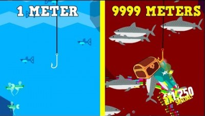 GO FISH EVOLUTION MAX DEPTH! 1300 METERS MAX UPGRADES (Go Fish New Update)