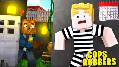 *GOD WEAPONS MOD* MINECRAFT MODDED COPS AND ROBBERS W/ TEWTIY - MINECRAFT MODDED MINIGAME