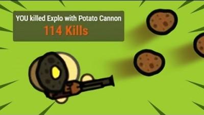 HIGHEST KILL SCORE with POTATO CANON? // Surviv.io