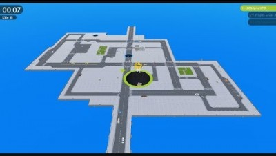 Hole.io 100.00% Map Control Score: 2,138 Pts
